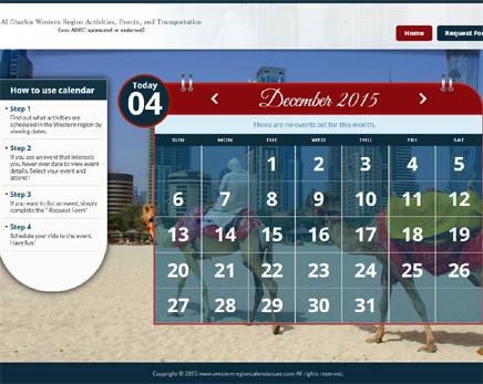 Western Region Calendar UAE